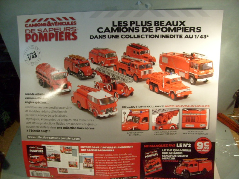 les camions et v hicules des sapeur pompiers au 1 43 par hachette. Black Bedroom Furniture Sets. Home Design Ideas