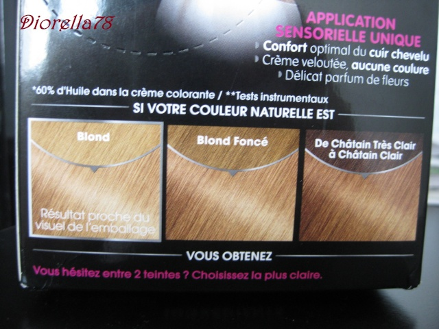 Coloration olia blond sur cheveux bruns