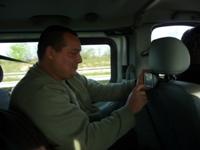 Notre technicien Mikelef aux manettes (GPS)
