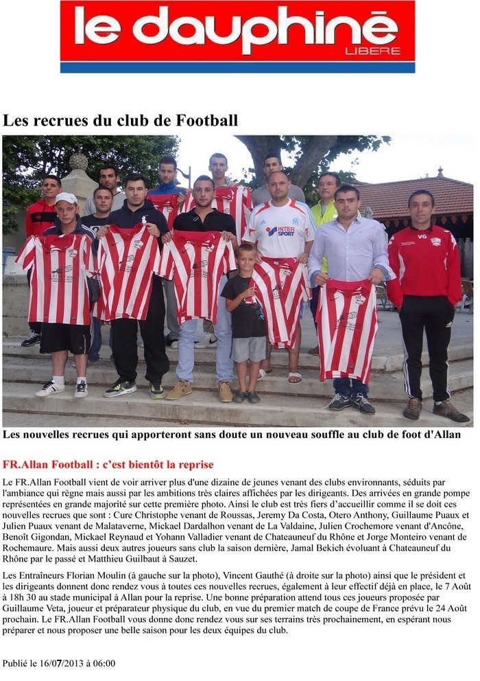 Les Recrues du FR. Allan Football