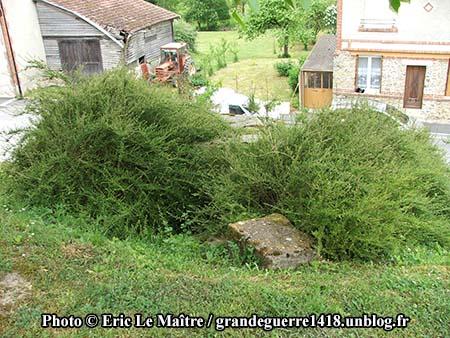 Abri allemand à Sommepy-Tahure, vue du dessus