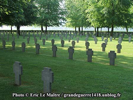 En regardant vers la gauche en entrant dans le cimetière.