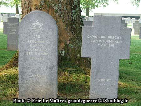 Tombes de Ferdinand Koppel et Christoph Prechtel
