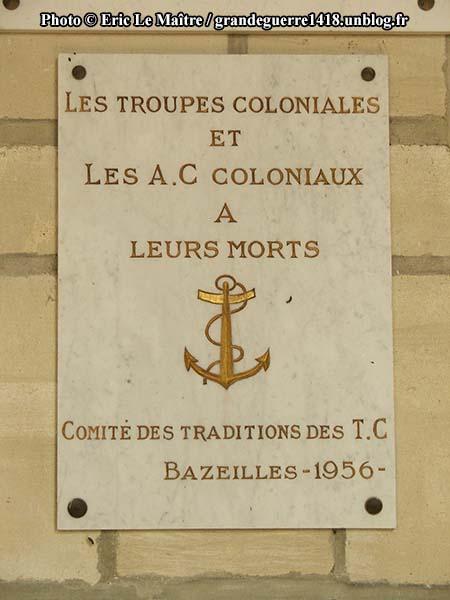 Aux troupes coloniales et les A.C coloniaux