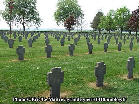 Alignement de tombes de soldats allemands