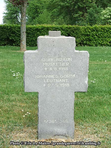 Tombe de Josef Braun et Johannes Gorski
