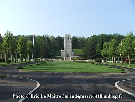 Entrée du cimetière américain de Belleau