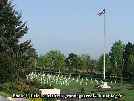 Une vue des tombes du cimetière américain de Belleau