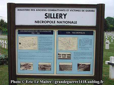 Nécropole Nationale de Sillery - Panneau touristique à l'entrée