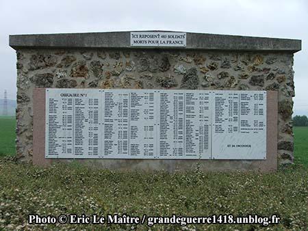 Nécropole Nationale de Sillery - ossuaire n°1