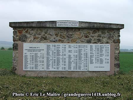 Nécropole Nationale de Sillery - ossuaire n°2