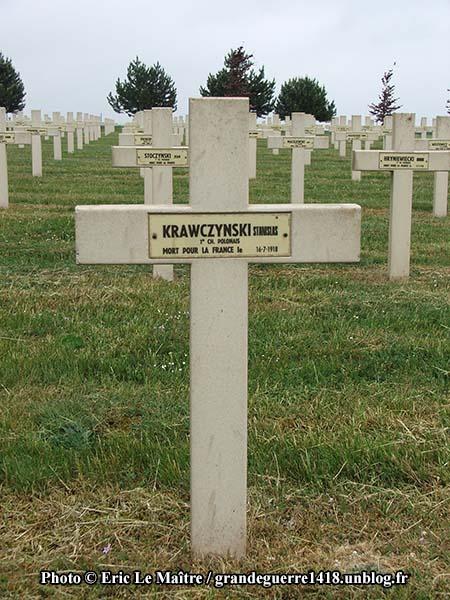 Tombe du soldat Stanislas Krawczki