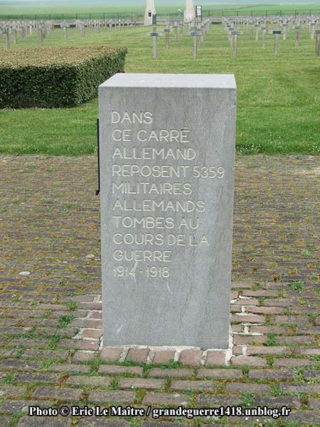Carré allemand du cimetière militaire d'Auberive
