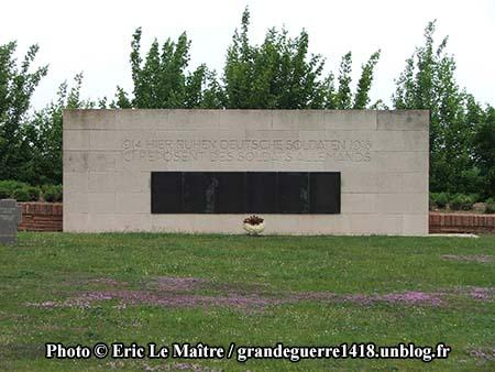 1914-1918 - Ici reposent des soldats allemands