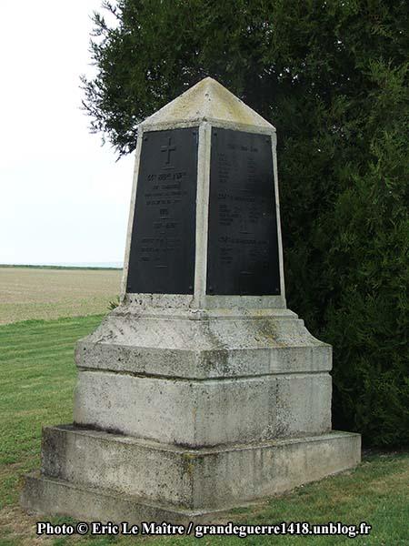 La Nécropole Nationale de Souain 28e Brigade - Détail (suite) du Monument aux morts du 44e RI