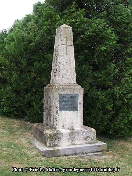 La Nécropole Nationale de Souain 28e Brigade - Monument aux morts du 60e RI