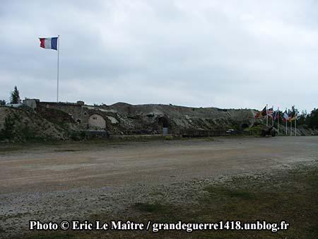 Vue extérieure du fort de La Pompelle