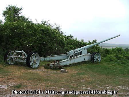 Pièce d'artillerie du fort de La Pompelle