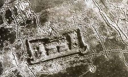 Vue aérienne du fort de La Pompelle