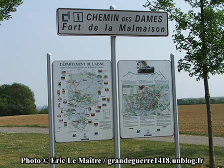 Panneau - fort de la Malmaison