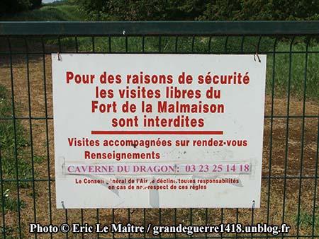 Pas de visite libre du fort.