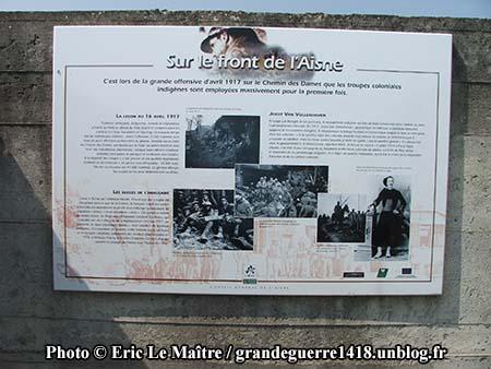 Sur le front de l'Aisne