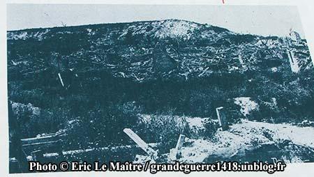 Le village après la guerre, il est totalement ruiné