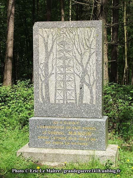 Le monument du général Mangin