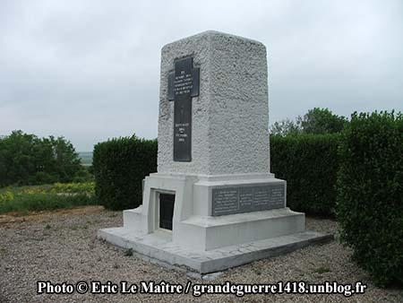 Monument de La Pompelle - Vue de profil à droite