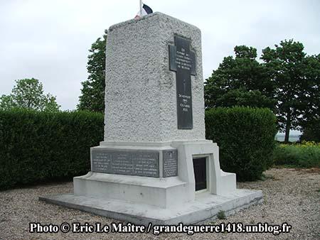 Monument de La Pompelle - Vue de profil à gauche
