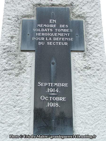 Monument de La Pompelle - PC en forme de croix