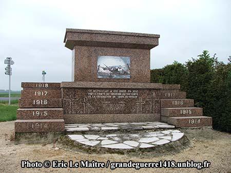 Monument des offensives d'avril 1917, autre face
