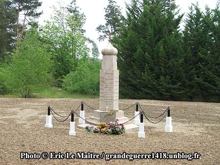 Monument du 2e régiment spécial russe