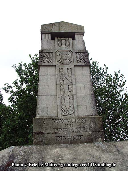 Inscription du Monument aux morts des 170e et 174e RI