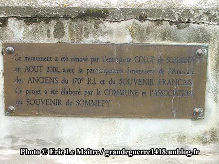Réfection du monument aux morts des 170e et 174e RI