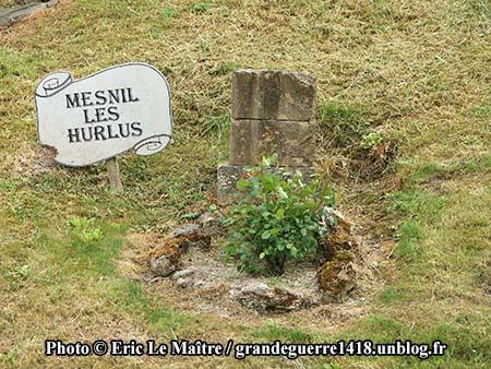 Vestige ddu village de Mesnil les Hurlus