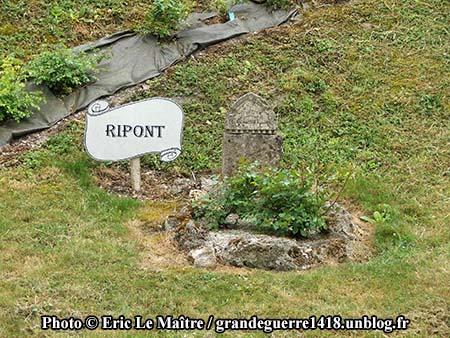 Vestige ddu village de Ripont