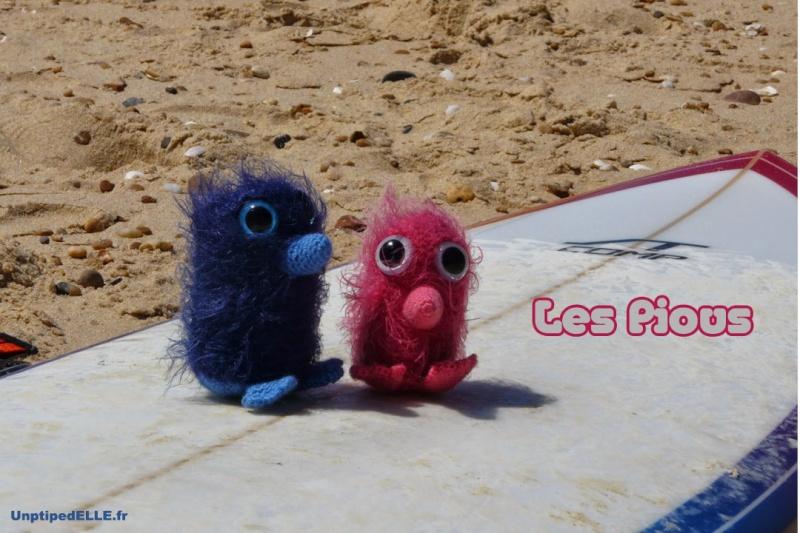Piou rose et Piou bleu