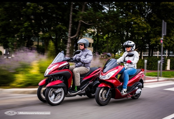 comparatif yamaha tricity 125 vs honda pcx 125 2014. Black Bedroom Furniture Sets. Home Design Ideas
