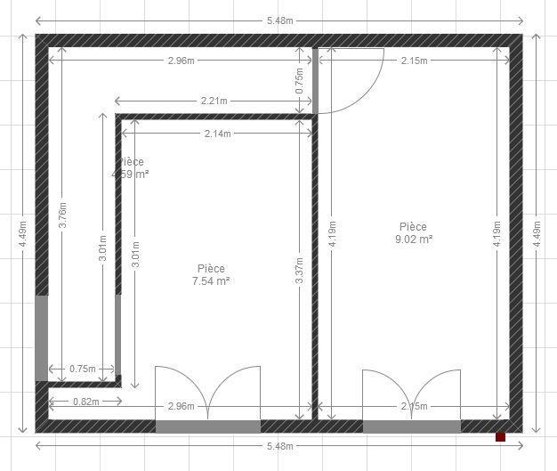 r am nager 2 chambres en enfilade. Black Bedroom Furniture Sets. Home Design Ideas
