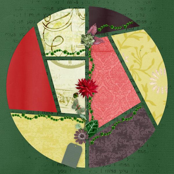 mosaiques template simplette page jolie coeur Kit Vintage Butterflies LeaUgoScrap