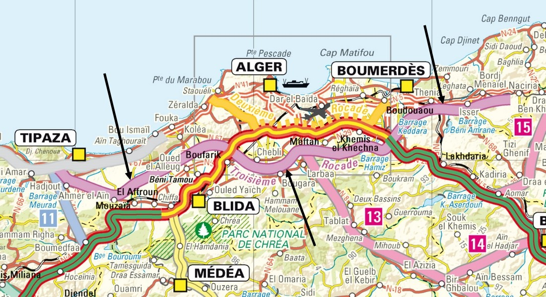 Carte Algerie Tipaza.Tipaza Tizi Ouzou 3e Rocade D Alger Highway 153 Km Project