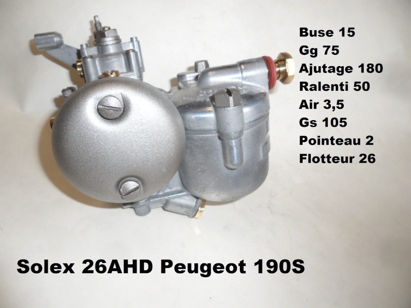 carburateur solex 26 fh