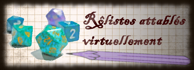 Rôlistes attablés virtuellement