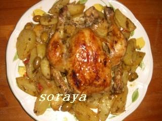 POULET ET PATATES AU FOUR dans poulet recett44
