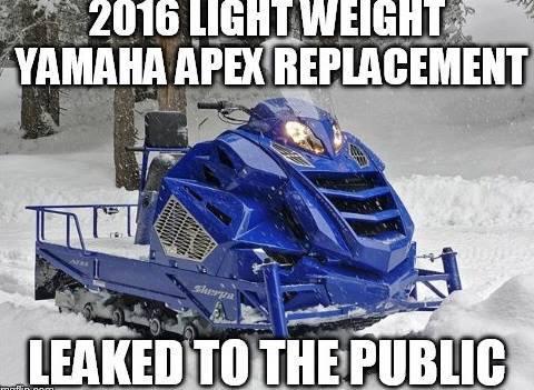 Primeur nouveau apex 2016 for 2016 yamaha sleds