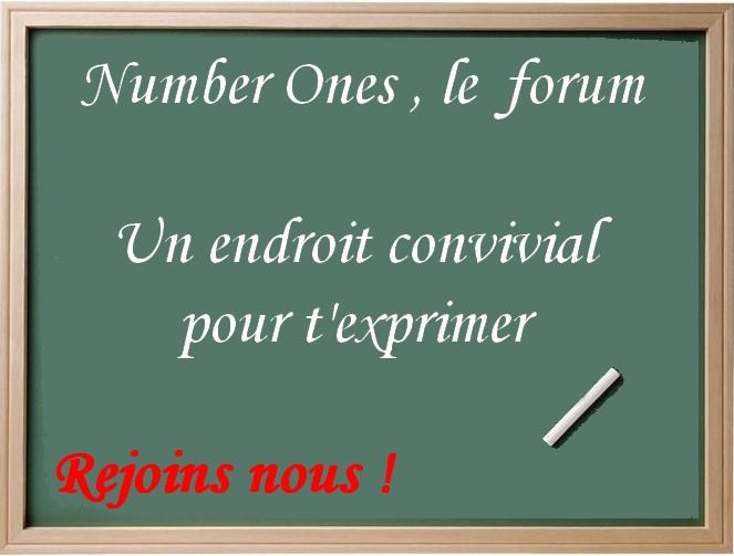 Number Ones , LE forum des stars et de la musique