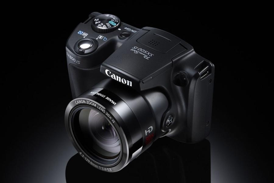 Nouveau compact Canon PowerShot SX500 IS avec gros zoom