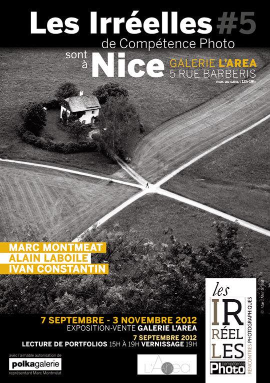 Les Irréelles #5 du magazine photo Compétence Photo avec Marc Montméat, Alain Laboile et Ivan Constantin à la Galerie L'Area de Nice