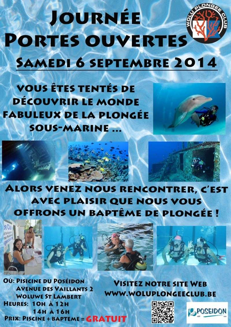 Le samedi 6 septembre 2014 portes ouvertes au pos idon for Piscine woluwe